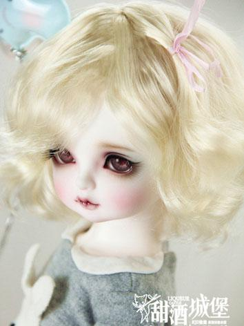 1/3 1/4 1/6 Wig Short Curly Hair Wig for SD/MSD/YSD Size Ball-jointed Doll
