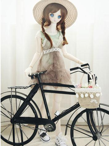 BJD 1/3 Black Bicycle for S...