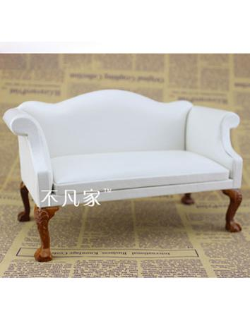 1/6 BJD White Long Chair fo...
