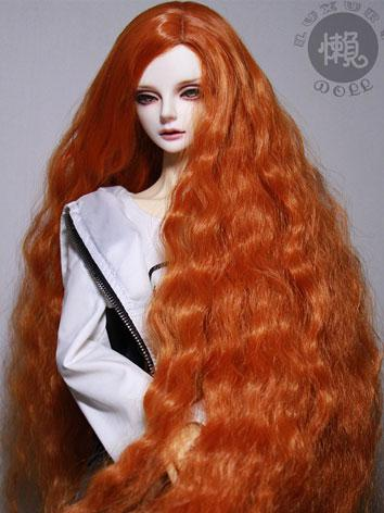BJD Wig Girl/Boy Orange/Bro...