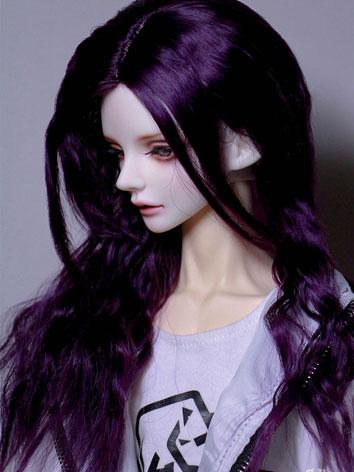 BJD Wig Boy Purple Curly Ha...