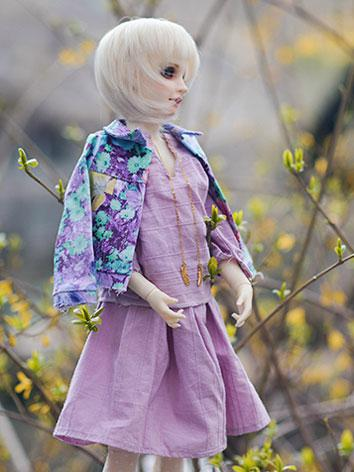 1/3 1/4 Clothes Girl Purple Suit for SD/MSD Ball-jointed Doll BJD