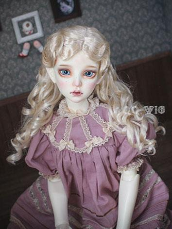 BJD Wig Female Light Gold R...