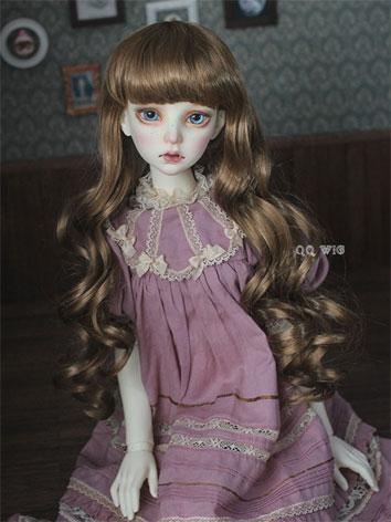 BJD Wig Female Gold/Chocola...
