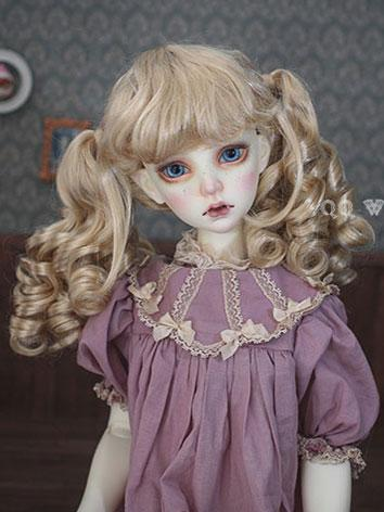 BJD Wig Female Gold Curly HAIR Wig for SD/MSD/YSD Size Ball-jointed Doll