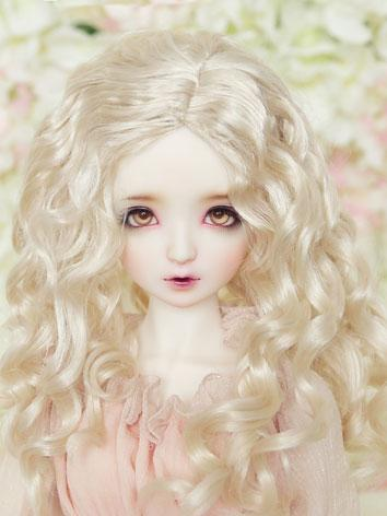 BJD Wig 1/3 Light Gold Curl...