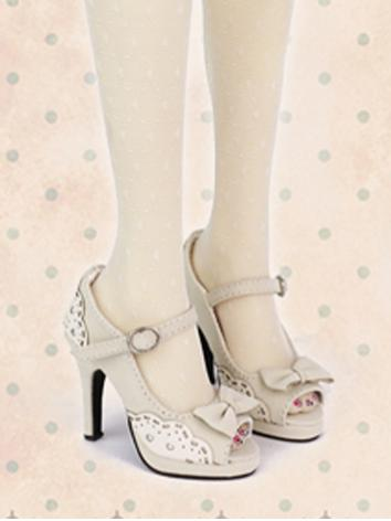 Bjd 1/3 Shoes Girl White/Bl...