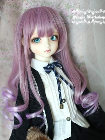 Girl Skyblue/Purple Curly H...
