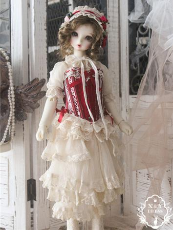 1/3 1/4 Clothes Girl Red Dr...