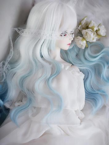 1/3 1/4 Wig Girl White Curly Hair for SD/MSD Size Ball-jointed Doll