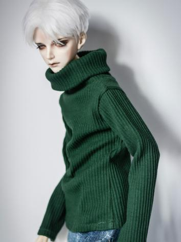 1/3 1/4 70cm Clothes Green/White High-neck Sweater A197 for MSD/SD/70cm Size Ball-jointed Doll