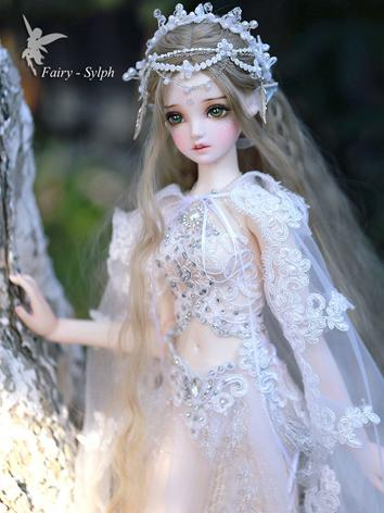 Bjd Clothes Girl White Fairy Outfit Set Sylph Clothes for SD size Ball-jointed Doll