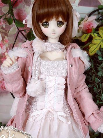 BJD Clothes DD/SD10/SD13 size Dress Pink Winter Suit Ball-jointed Doll