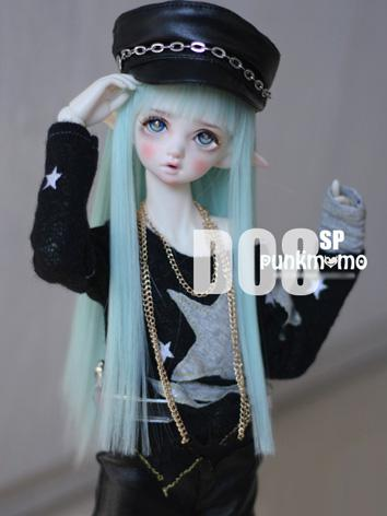 1/4 Wig 7-8inch Wig Mint Straight Hair D08SP for MSD Size Ball-jointed Doll