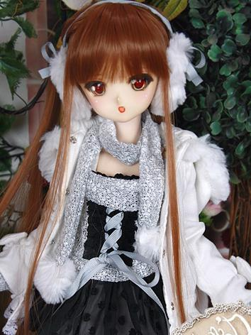BJD Clothes MSD/MDD/DSD size Dress White Winter Suit Ball-jointed Doll