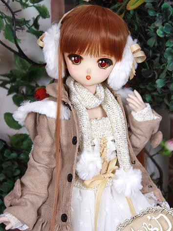 BJD Clothes MSD/MDD/DSD size Dress Khaki Winter Suit Ball-jointed Doll