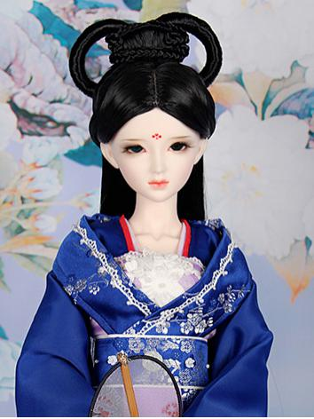 1/3 1/4 BJD Wig Ancient Updo Girl Black Hair for SD/MSD Size Ball-jointed Doll