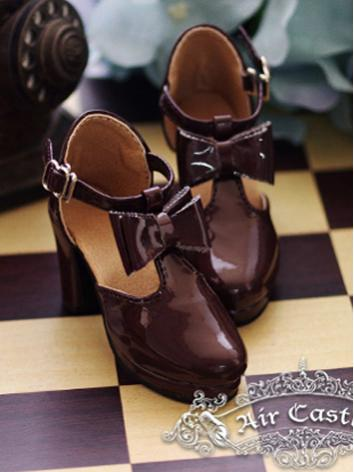 Bjd 1/3 Girl Shoes Black/Brown Retro Lolita Highheels for SD Ball-jointed Doll