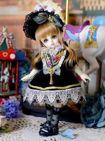 BJD Clothes Girl Black Dress Suit for YSD/MSD/SD Ball-jointed Doll