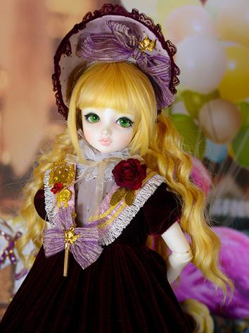BJD Clothes Girl Wine Dress Suit for YSD/MSD/SD Ball-jointed Doll