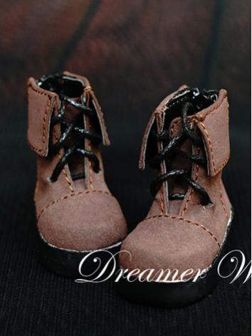 1/6 Shoes Male Brown Short Boots for YSD Ball-jointed Doll