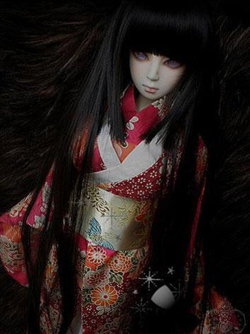 BJD 1/3 Wig Black Long Straigt Hair for SD Ball Jointed Doll