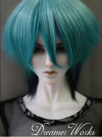 BJD 1/3 1/4 Wig Blue High Temperature Hair for SD/MSD Size Doll Ball-jointed doll