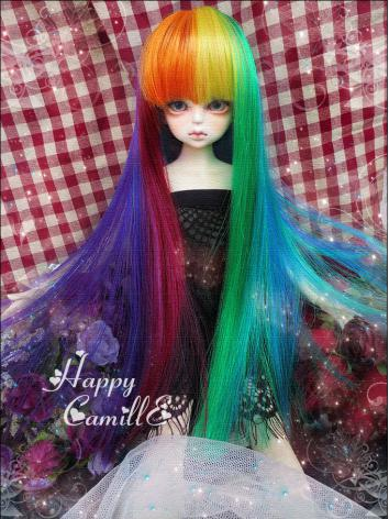 BJD Girl Long Straight Colo...