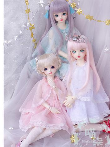 BJD 1/4 1/6 Clothes Girl Wh...