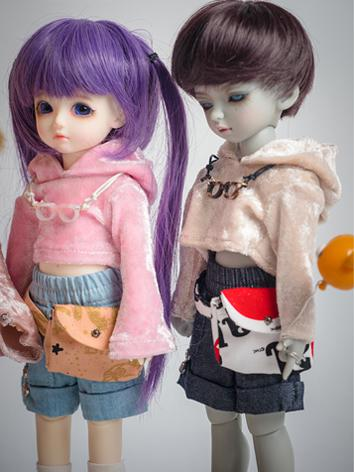 BJD Clothes Boy/Girl 1/6 size Street Style Hoodies Pants Suit for YOSD Ball-jointed Doll