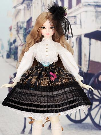 1/4 Dress Outifit Girls Suit [Lolita-Bird]M for MSD Size Ball-jointed Doll