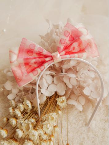 BJD Hair Decoration Pink Sw...
