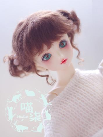 1/3 1/4 1/6 Girl Wig Brown Cute Hair for SD/MSD/YSD Size Ball-jointed Doll