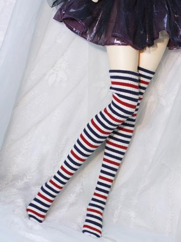 Bjd Socks Girls Stripe High Stockings Socks for SD/MSD Ball-jointed Doll