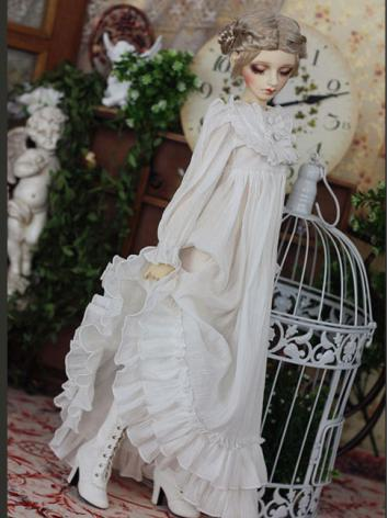 Bjd Clothes Girl White Long...