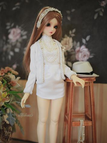 BJD Clothes Girl White Suit...
