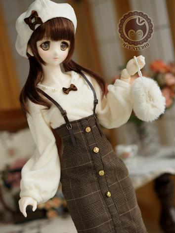 1/3 DD Clothes Girl Brown Gird Skirt Suit for DD/SD Size Ball-jointed Doll