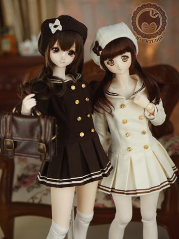 1/3 DD Clothes Girl Brown/B...