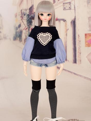 1/4 Skirt Outifit Girls Suit [Daily Heart]MSD for MSD Size Ball-jointed Doll