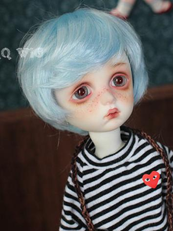 BJD Wig Boy Skyblue Short H...