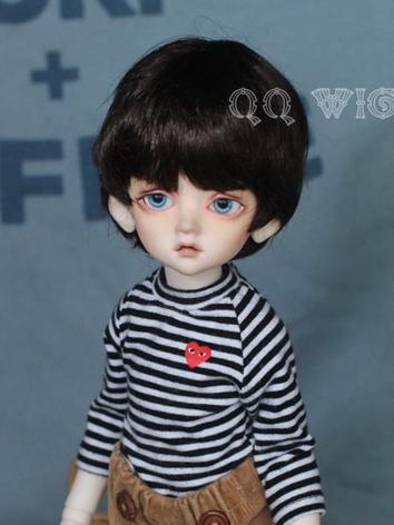 BJD Wig Boy Dark Chocolate ...