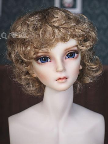 BJD Wig Boy Short Curly Hair Wig for SD/MSD/YSD Size Ball-jointed Doll