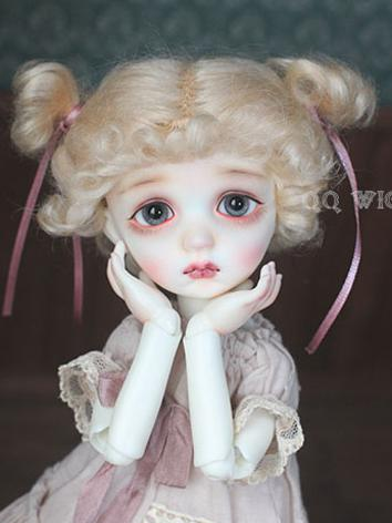 BJD Wig Boy Gold/Pink Hair Wig for MSD/YSD Size Ball-jointed Doll