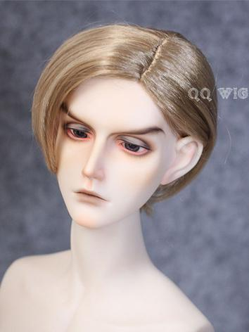 BJD Wig Boy Brown/Gold Short Hair Wig for SD/MSD Size Ball-jointed Doll