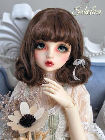 1/3 1/4 1/6 Wig Girl Brown Curly Hair for SD/MSD/YSD Size Ball-jointed Doll