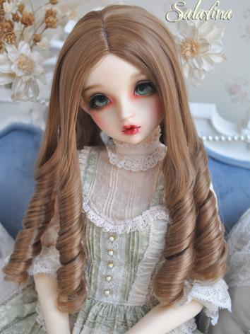 1/3 1/4 Wig Girl Brown Curly Hair for SD/MSD Size Ball-jointed Doll