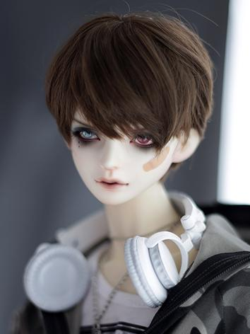1/3 1/4 1/6 Wig Boy Dark Brown/Gold Short Hair Wig for SD/MSD/YSD Size Ball-jointed Doll
