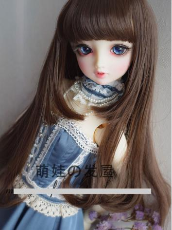 1/3 1/4 Wig Girl Coffee/Black/White/Black/Pink/Purple Hair for SD/MSD Size Ball-jointed Doll