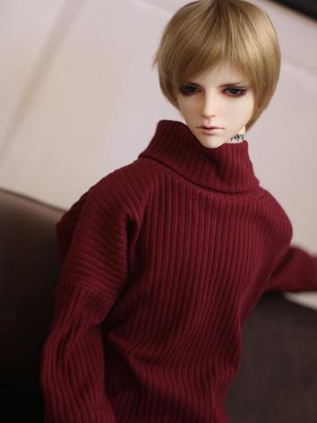 BJD Clothes Black/White/Wine/Blue Short Sleeves T-shirt for MSD/SD/SD17/70CM Ball-jointed Doll