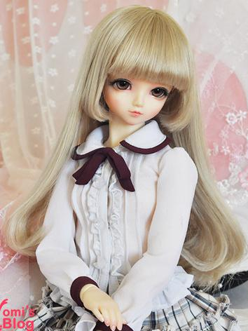 BJD Girl Flaxen Straight Ha...
